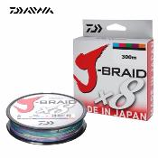 Tresse Daiwa J-Braid X 8 Multicolore - 300m