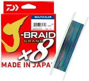 Tresse Daiwa J-Braid Grand X8 Multicolore - 300m